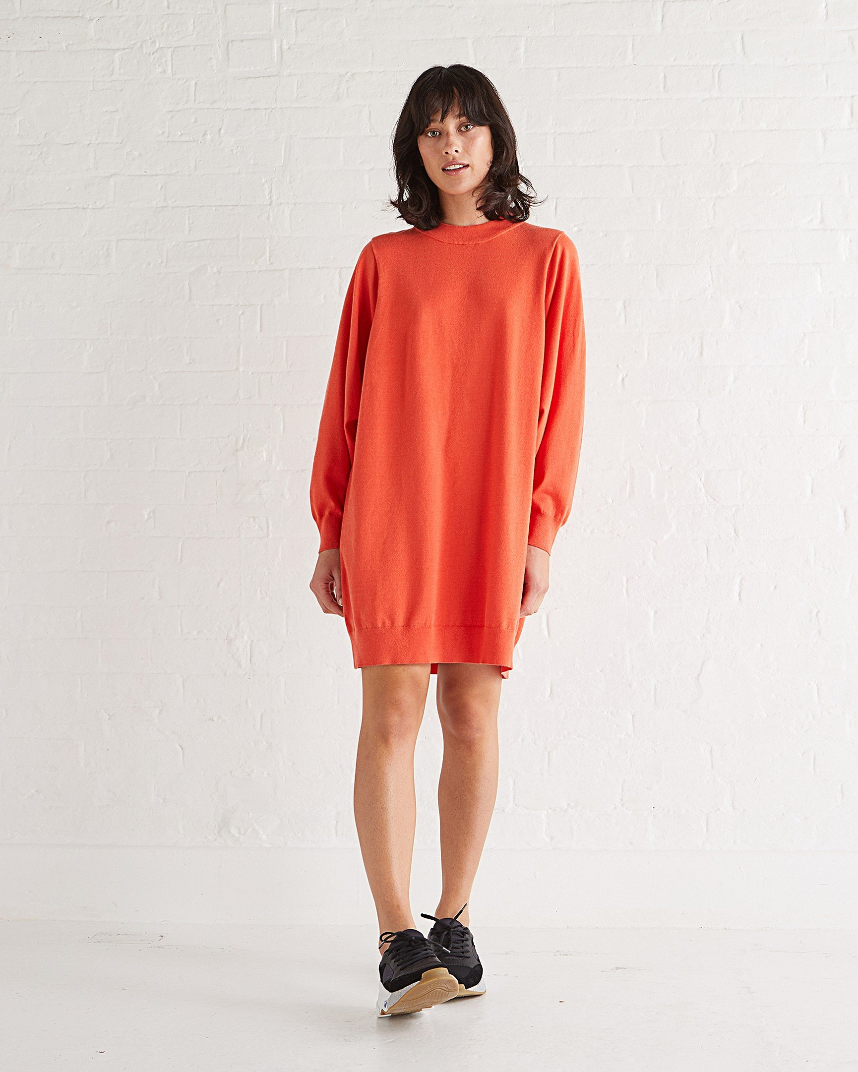 9bc73763bff3 Contact Orange Knitted Jumper Dress