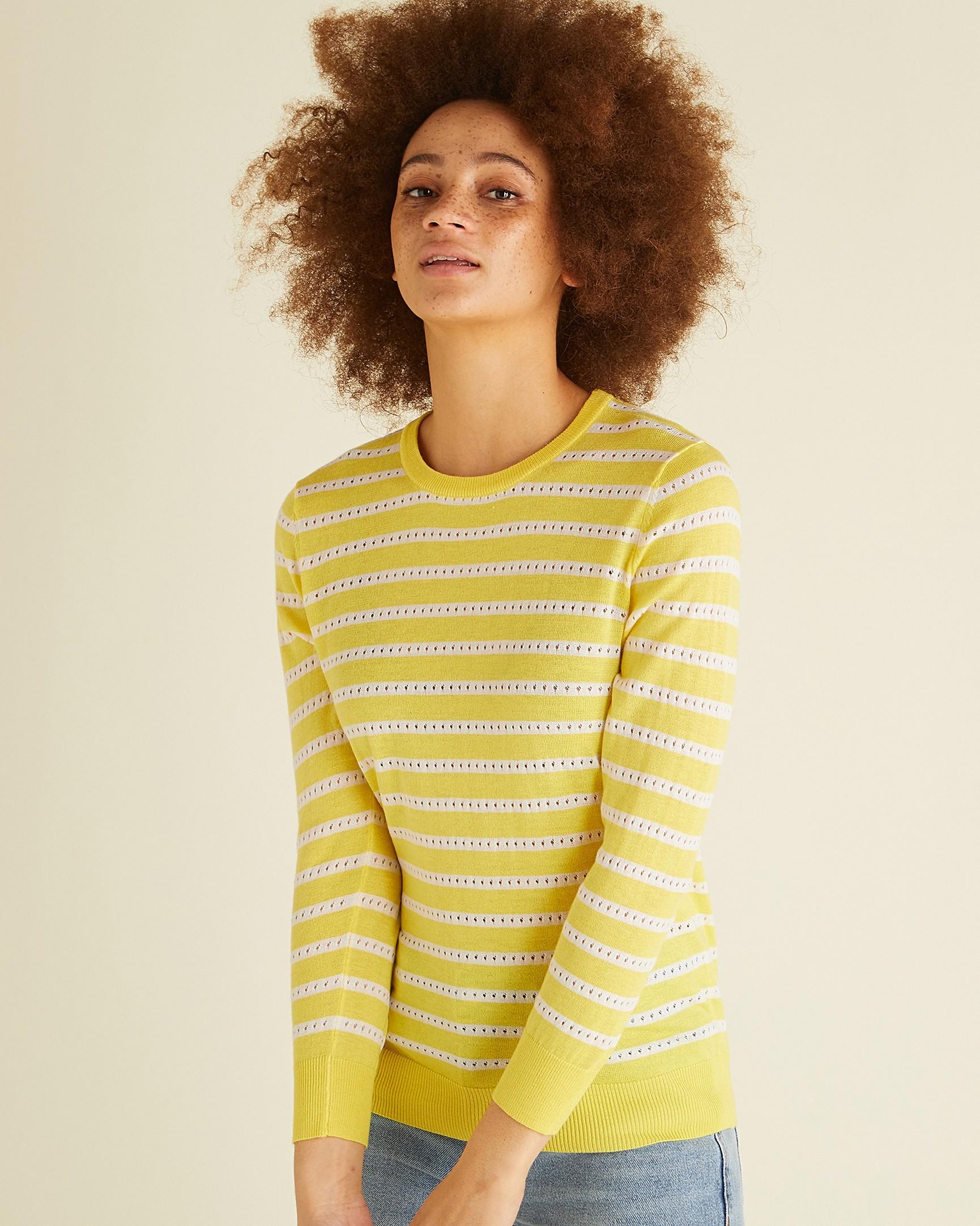 d3d6256f639 Sunshine Stripe Yellow Jumper