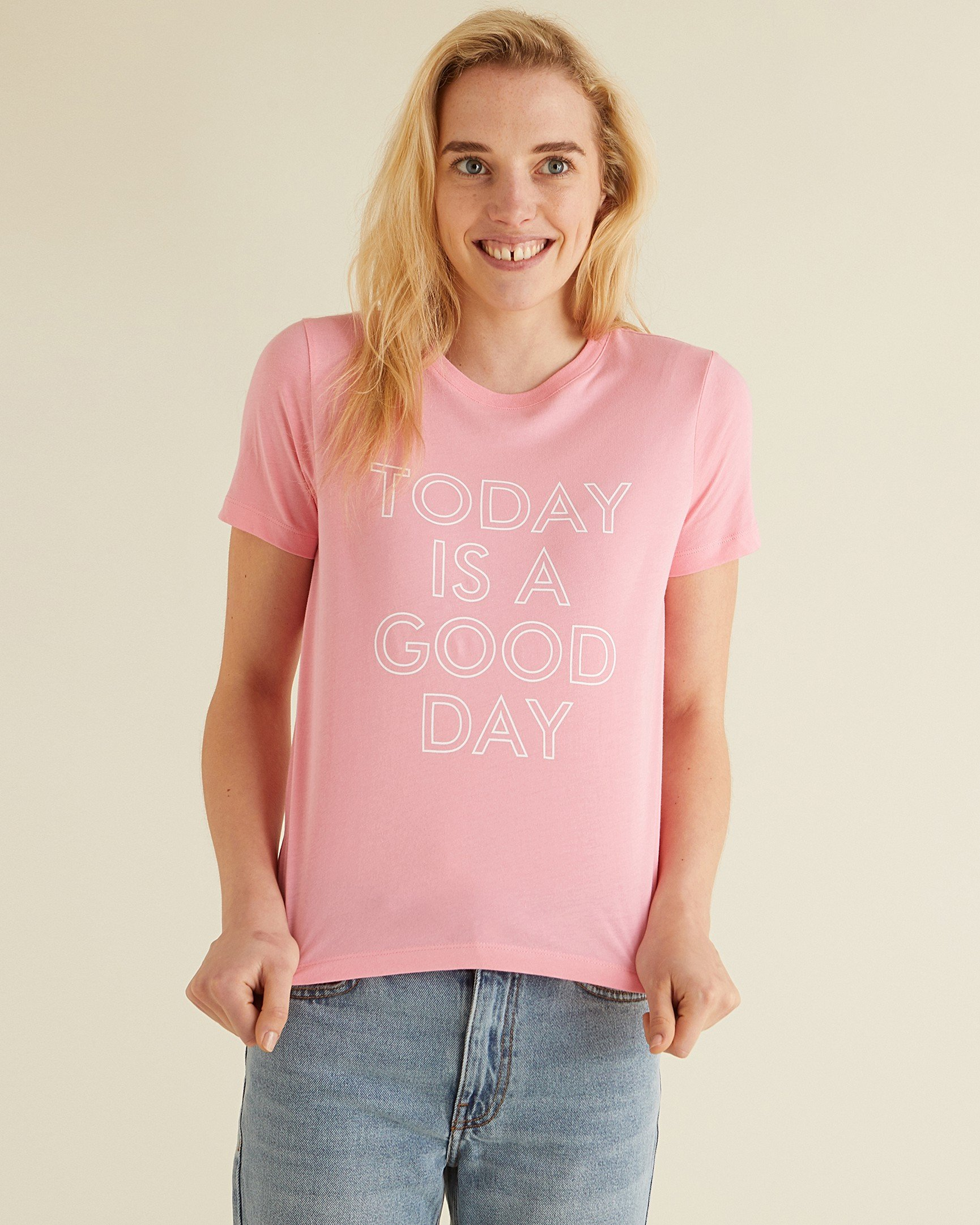 12801526ce6 Today Is A Good Day Pink T-Shirt
