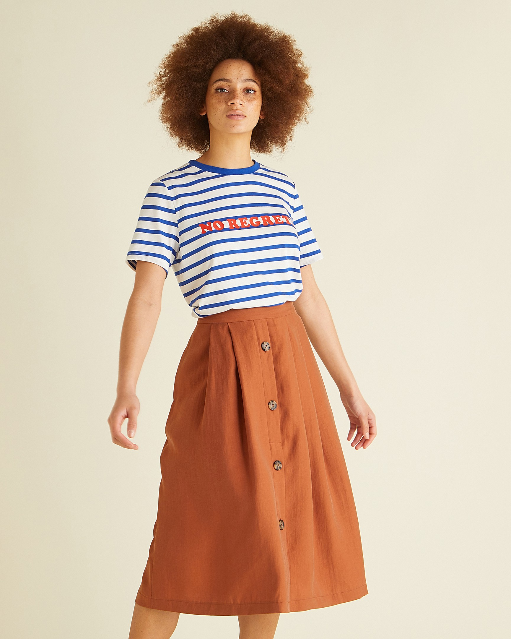 d82b0cd3e5 Asos Button Through Midi Skirt - ShopStyle UK