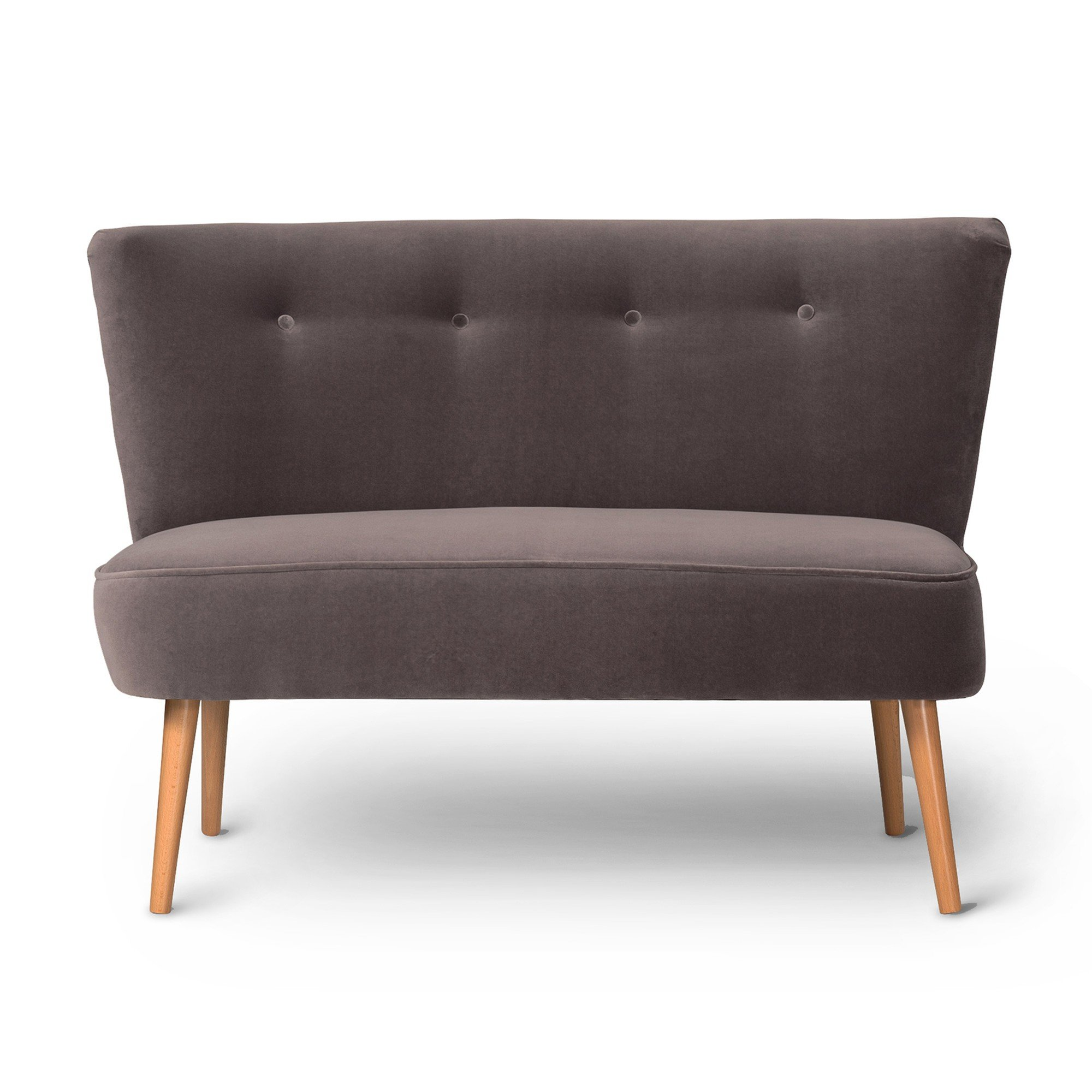 Le Cocktail Velvet Dusk Grey Twin Loveseat