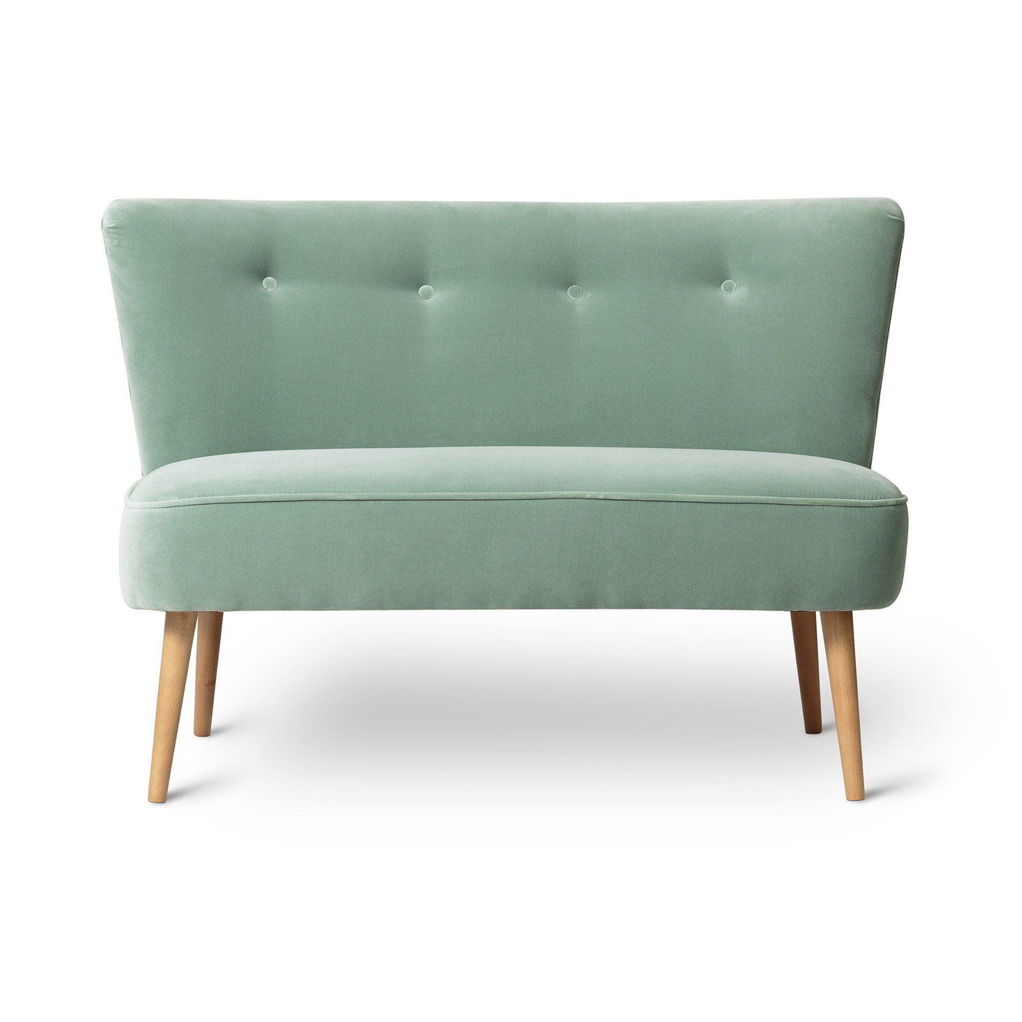 Le Cocktail Velvet Duck Egg Blue Twin Loveseat