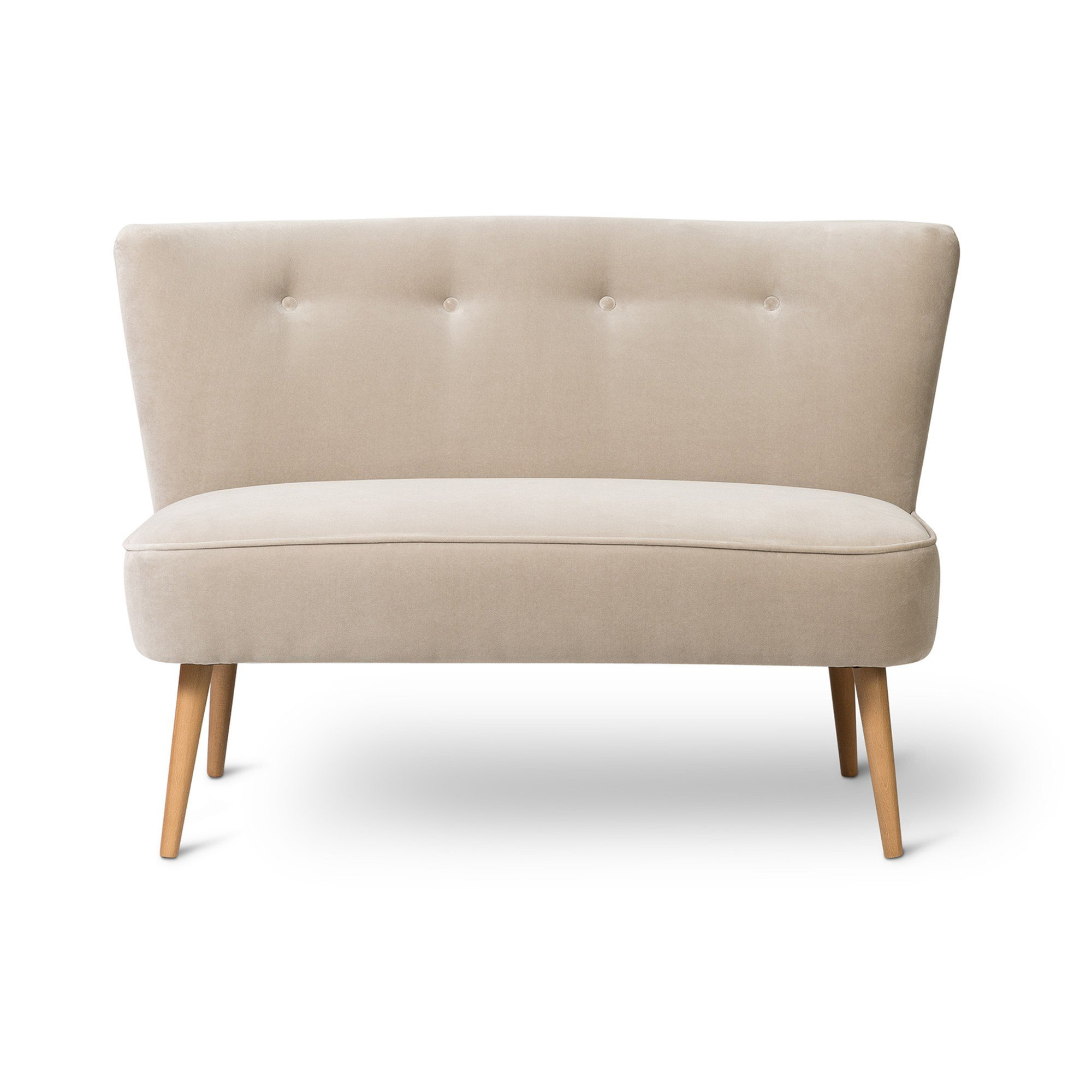 Le Cocktail Velvet Dove Brown Twin Loveseat