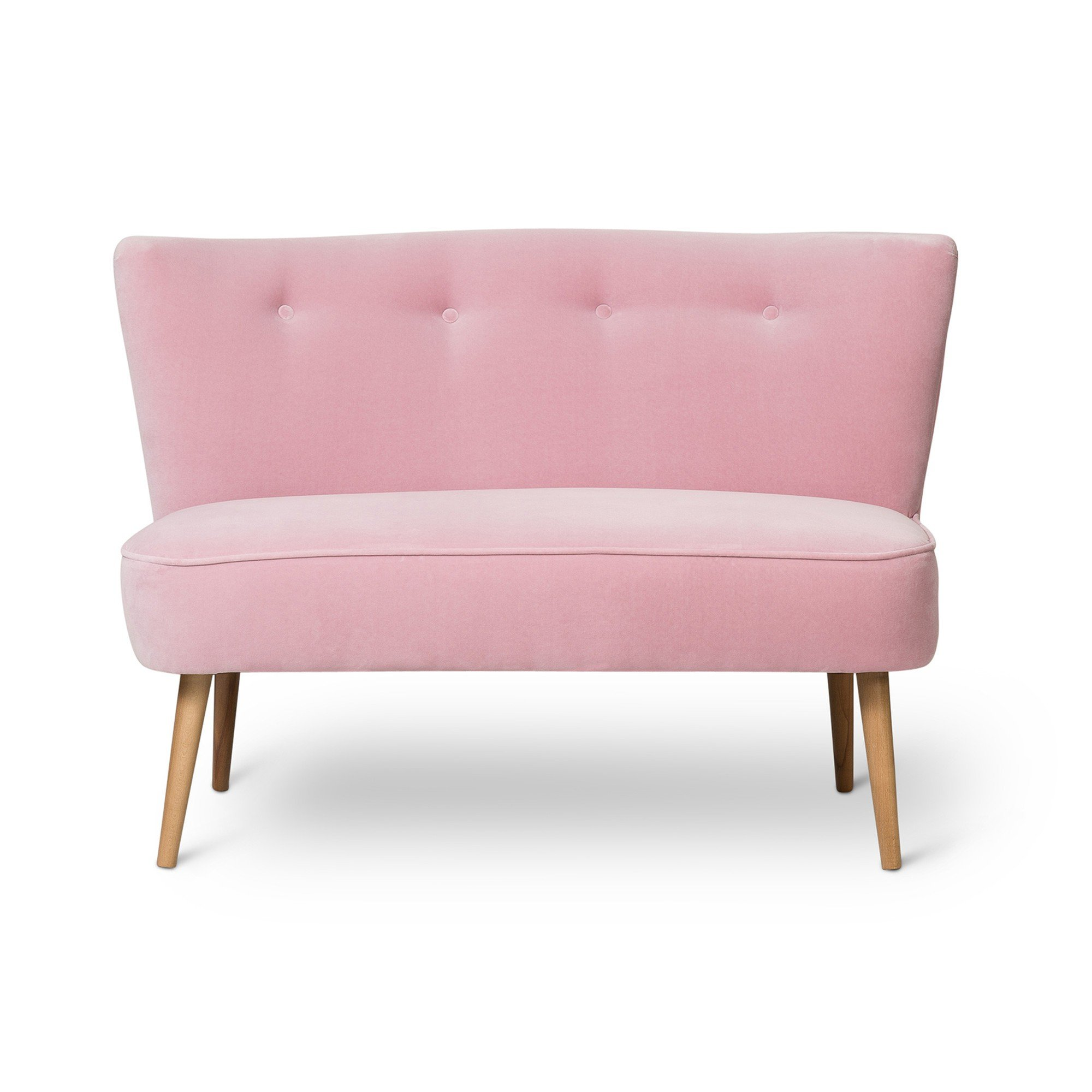 Le Cocktail Velvet Pale Rose Pink Twin Loveseat