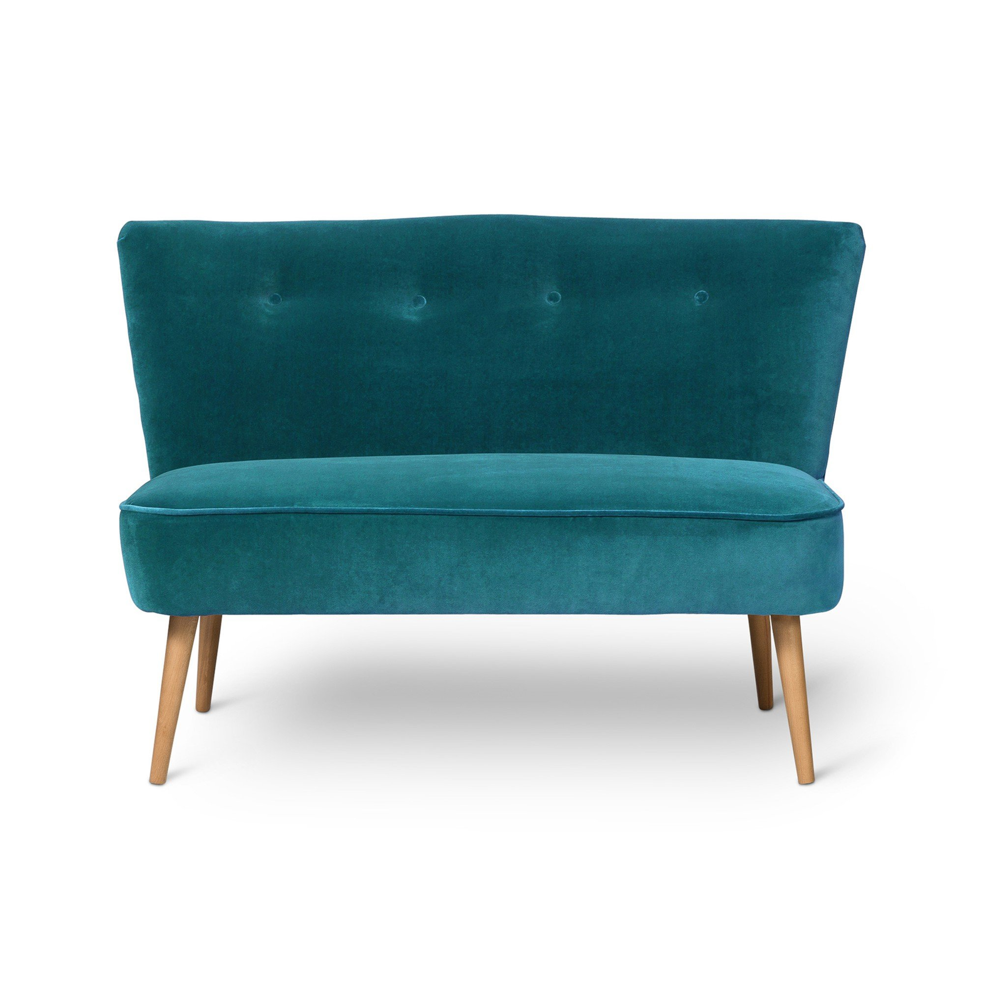 Le Cocktail Velvet Ocean Blue Twin Loveseat