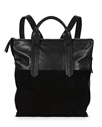 Ivy Black Suede & Leather Backpack