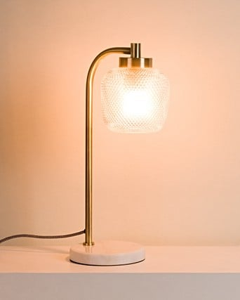 Table Lamp with Marble Base   Oliver Bonas