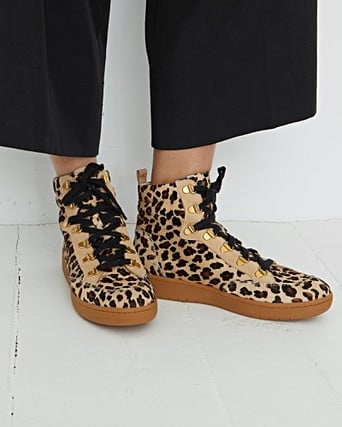 Hike Leopard Print Lace Up Ankle Boots