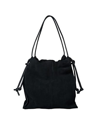 Quinn Gathered Leather Tote Bag