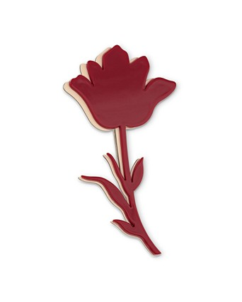 Meadow Red Tulip Layered Brooch | Oliver Bonas