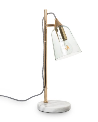 Glass Shade Marble Table Lamp Oliver Bonas