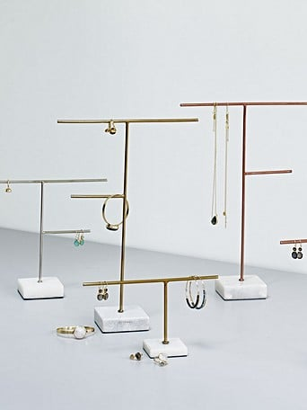 97a64dd36 Large Gold & Marble Jewellery Stand | Oliver Bonas