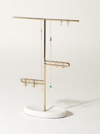 05cce8000 Delivery & returns. Marble Loop Gold Jewellery Stand Large