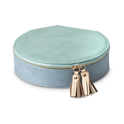 Nellie Large Round Travel JewelryBox by Olivar Bonas