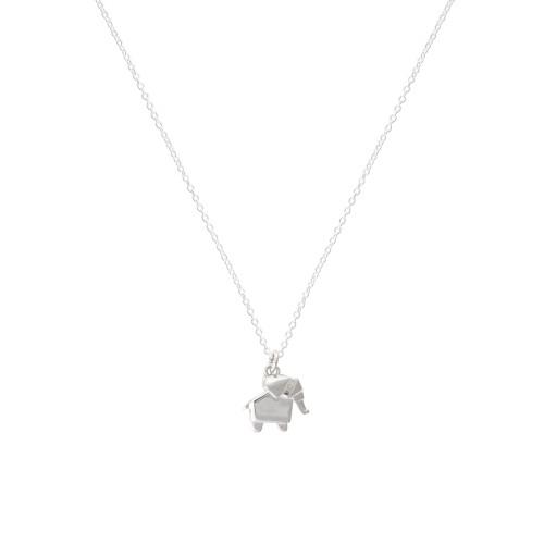 Silver Origami ElephantNecklace by Olivar Bonas