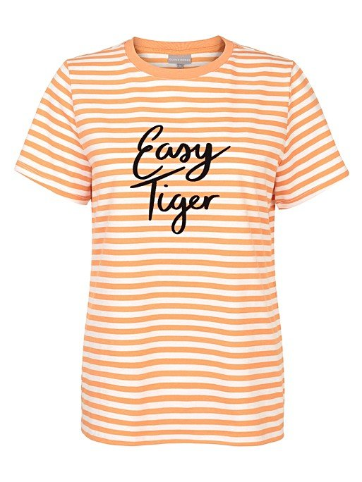 2eab513c757c7a Easy Tiger Orange Stripe T-Shirt | Oliver Bonas
