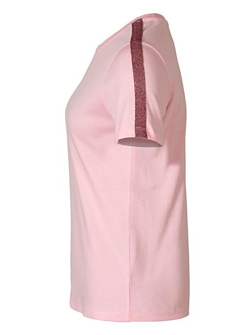 79b14a65 Sparkle Stripe Pink Cotton T-Shirt | Oliver Bonas