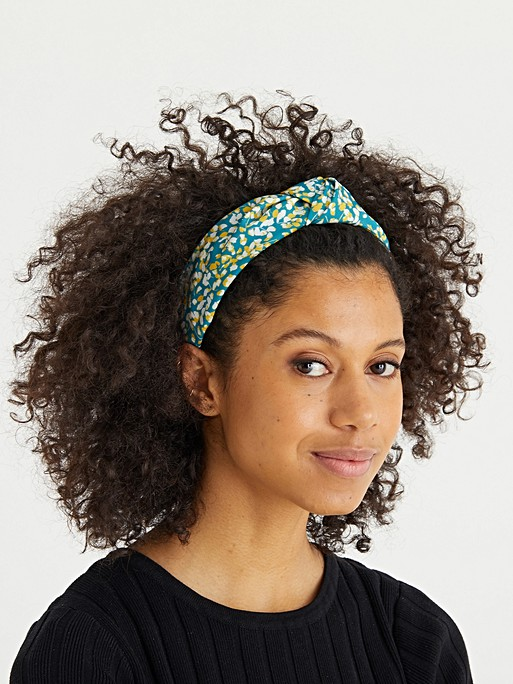 Aster Floral Print Knotted Headband