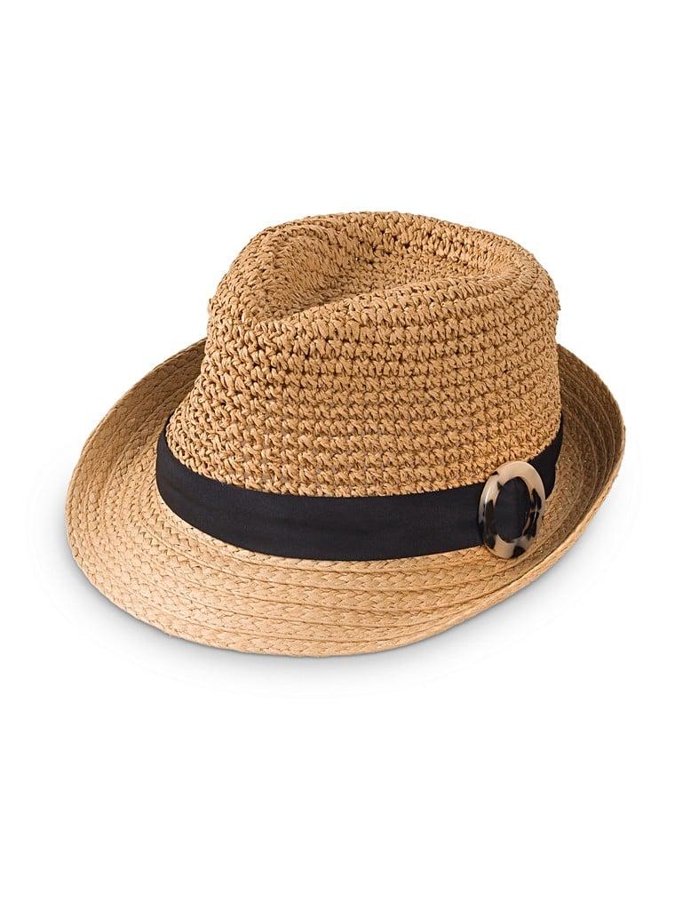 Tortoiseshell Buckle Trilby Hat