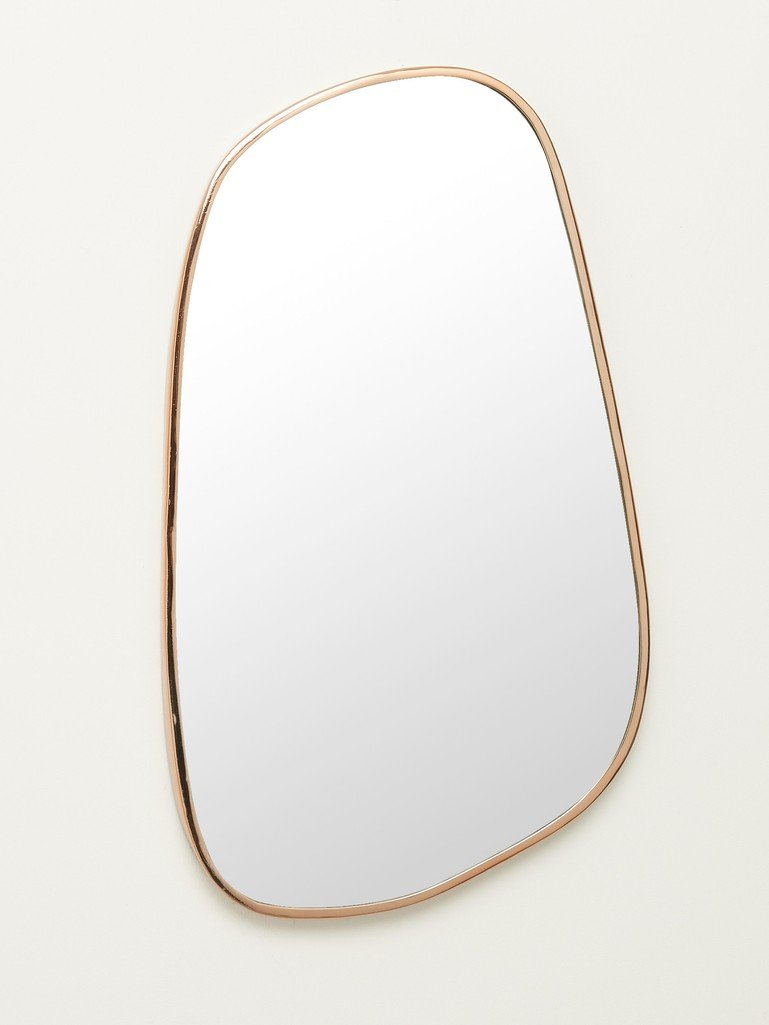 Rose Gold Pebble Wall Mirror Large