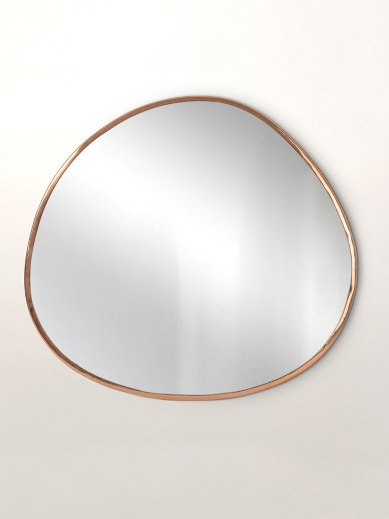 Rose Gold Pebble Wall Mirror Extra Large