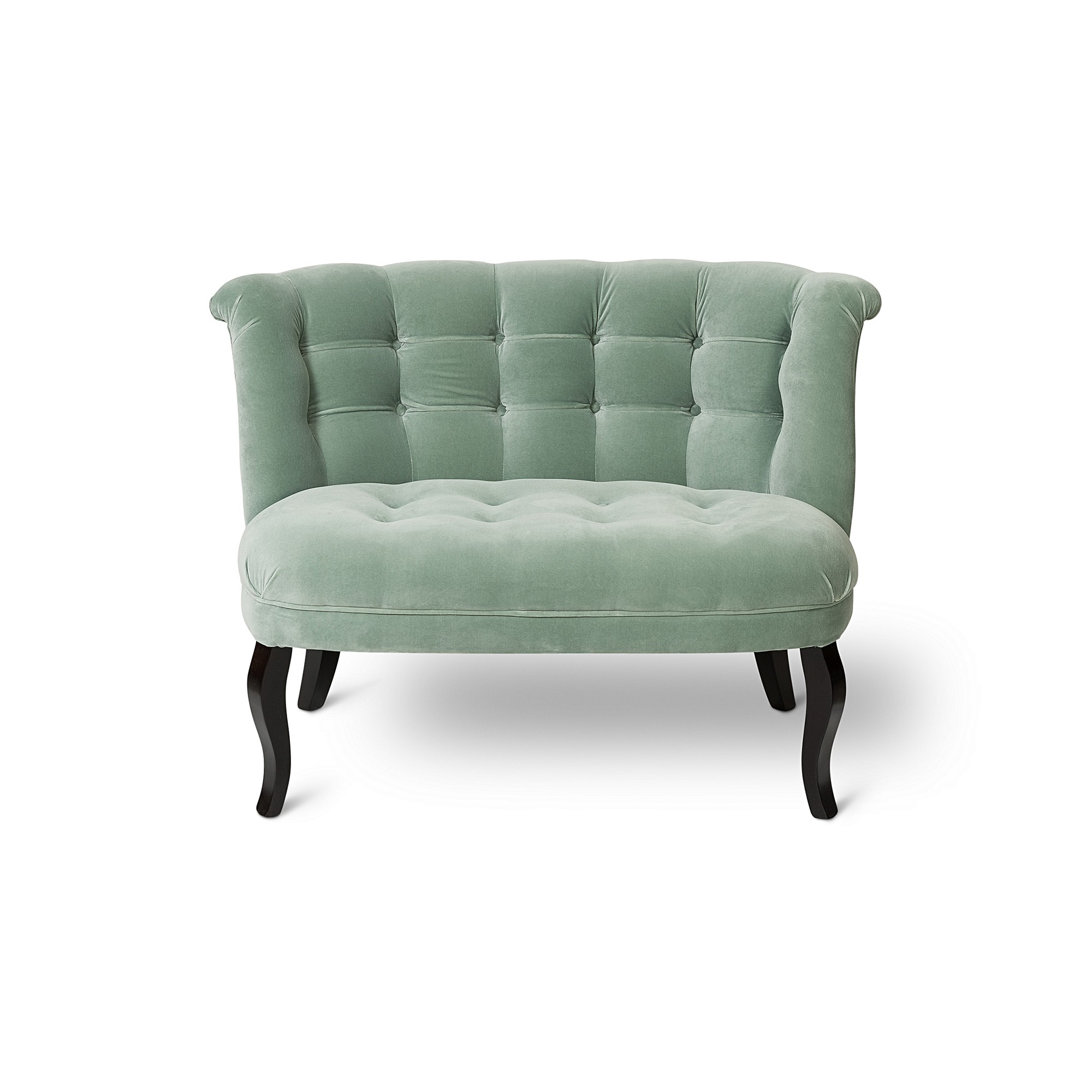 Velvet Duck Egg Blue Loveseat