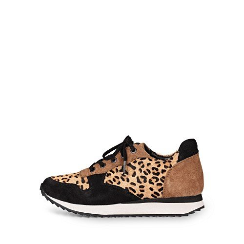 animal-print-brown-leather-lace-up-trainers by olivar-bonas