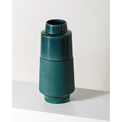 Olena Teal Green Ceramic Vase Tall by Olivar Bonas