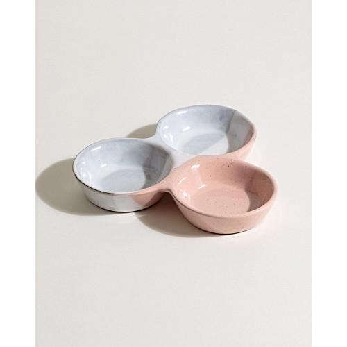 Pink Stoneware Condiment Set by Olivar Bonas