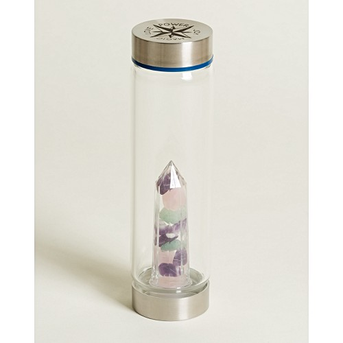 Glow Amethyst & Aventurine Crystal Water Bottle by Olivar Bonas