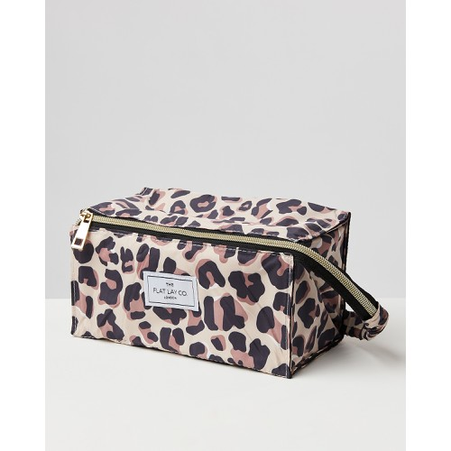 The Flat Lay Co Leopard Print Make Up