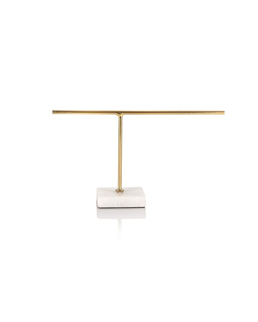 1acc77ebb Small Gold & Marble Jewellery Stand | Oliver Bonas