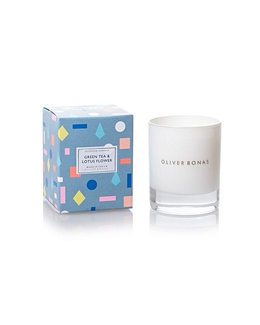 Green Tea Lotus Flower Scented Candle Oliver Bonas