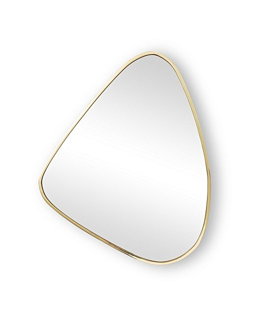 Large Gold Pebble Wall Mirror Oliver Bonas