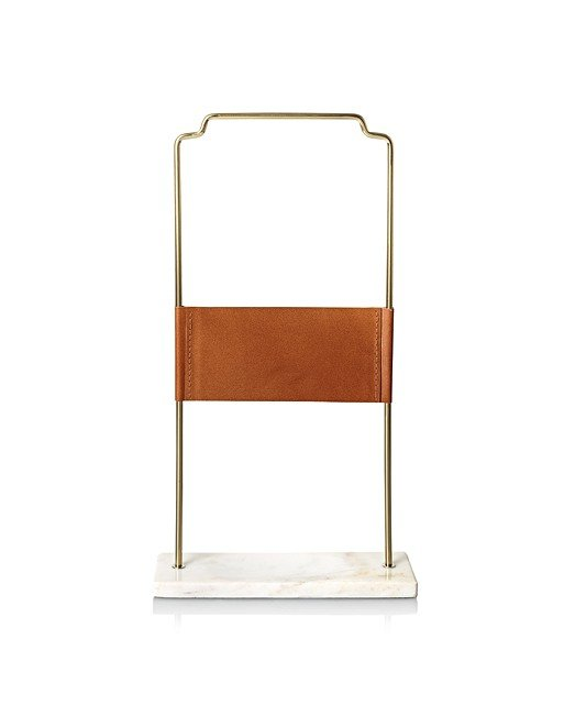 6a2973e09 Large Leather & Marble Jewelry Stand | Oliver Bonas