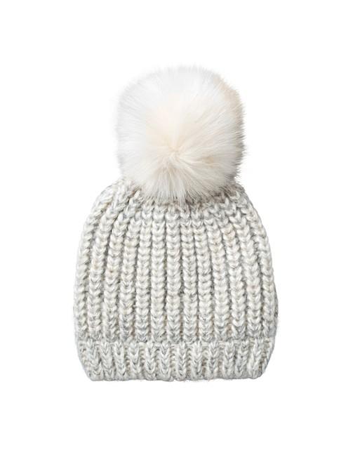 cbca6761e08 Chunky Ribbed Beanie Pom Hat
