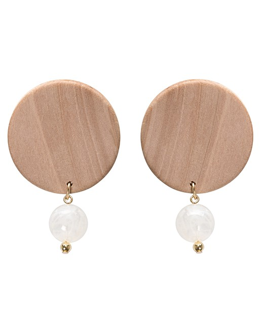 Enak Large Wood Bead Earrings