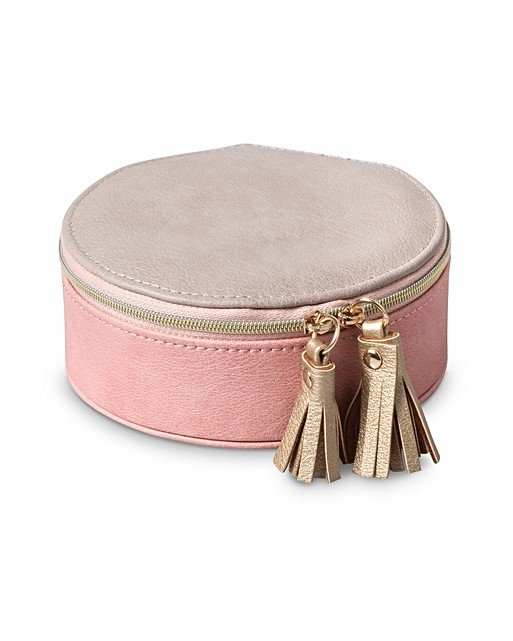 Nellie Small Round Travel Jewellery Box