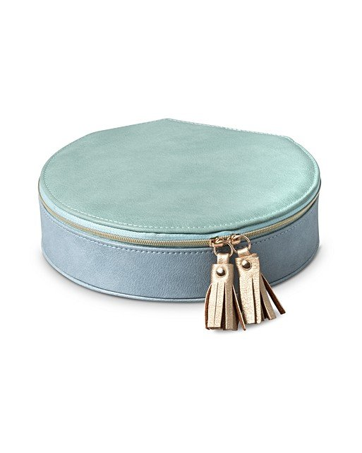 Nellie Large Round Travel Jewellery Box