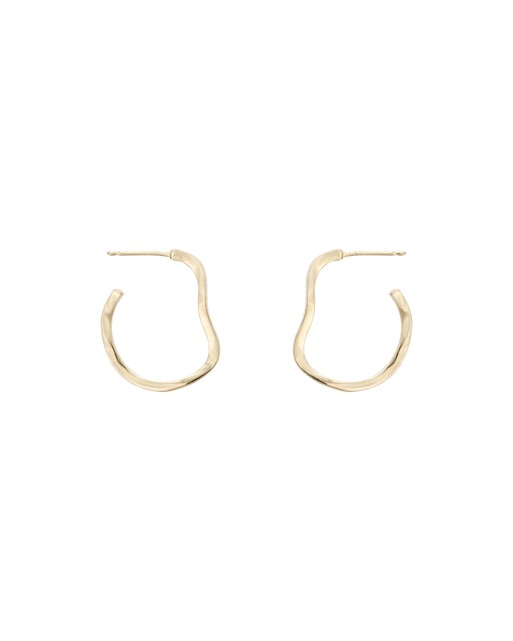26a17a05f Chunky Wavy Hoop Earrings | Oliver Bonas