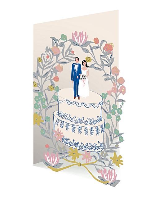 floral wreath wedding cake card  oliver bonas