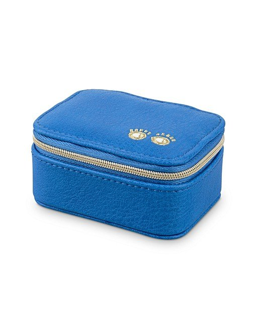 Embroidered Eyes Blue Travel Jewellery Box Small Oliver Bonas