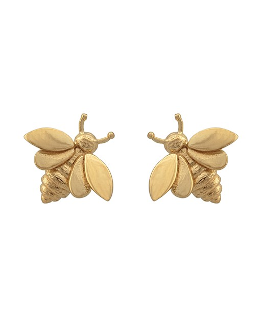 950543c26 Bee Gold Plated Stud Earrings