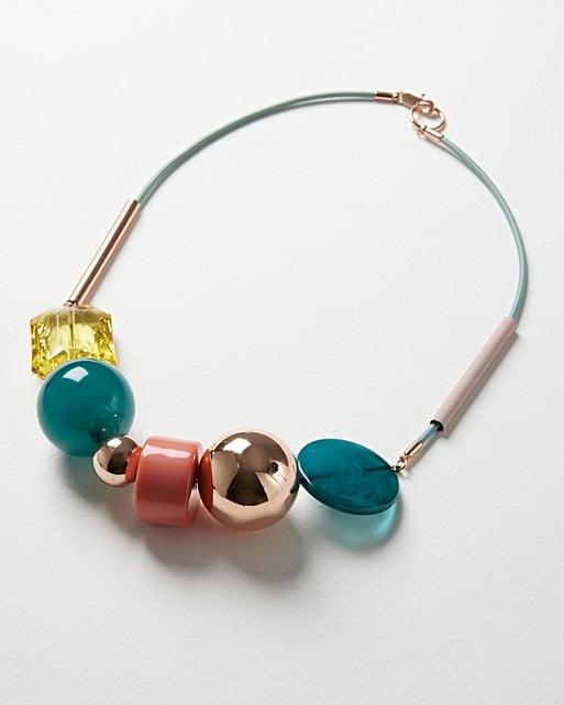 Jolie Multi Beaded Cord Collar Necklace