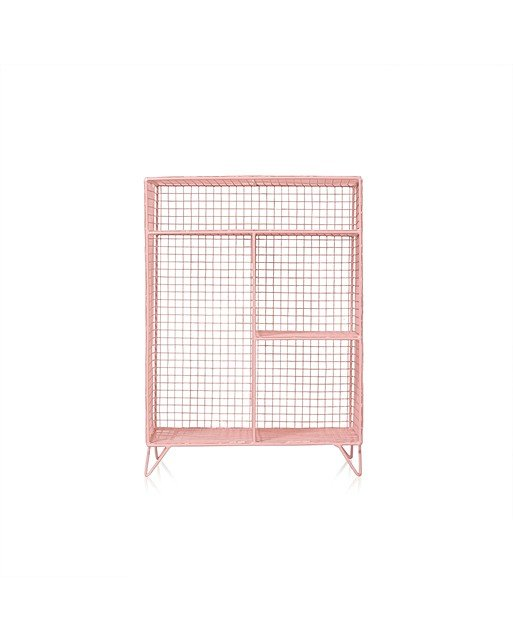 Pink Grid Four Shelf Mix Match Storage Unit Oliver Bonas