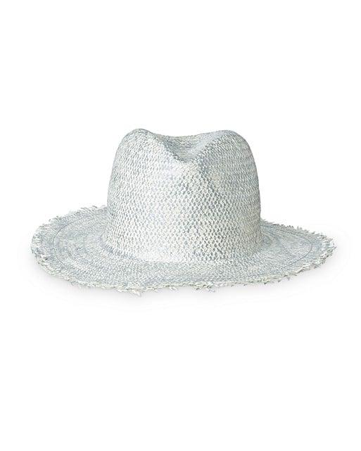 9aacaccebbef Nyssa Metallic Frayed Edge Fedora Hat   Oliver Bonas