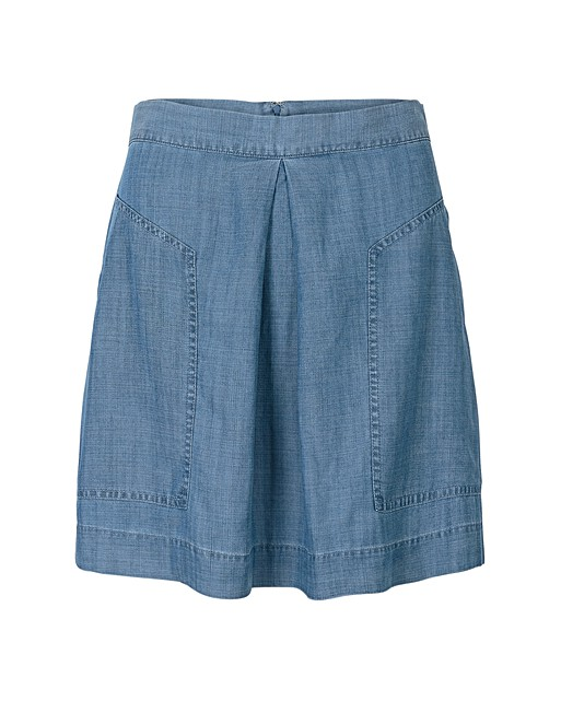 cdcfd31678 Laugh Patch Pocket Denim Mini Skirt   Oliver Bonas