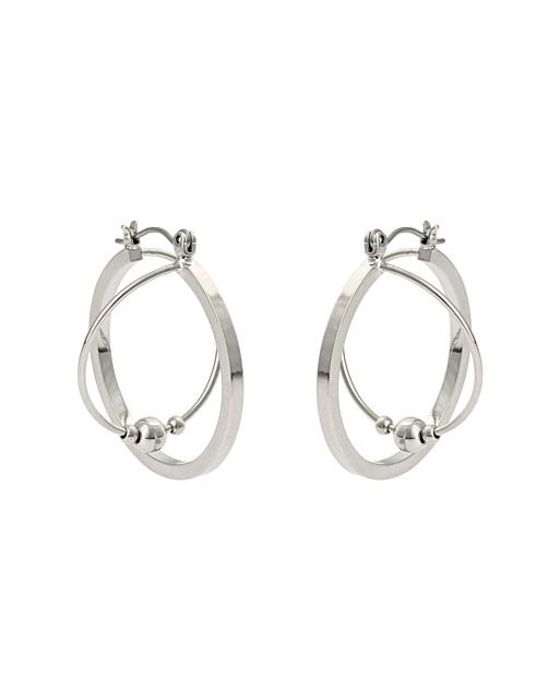 bb8349052 Geikie Twist & Bead Hoop Earrings | Oliver Bonas