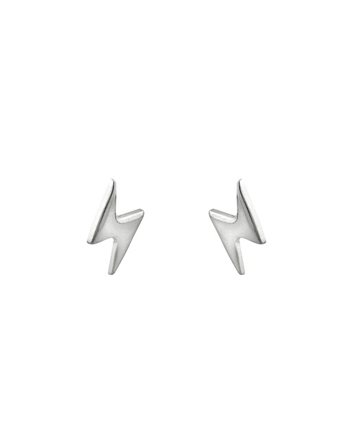 ead546cfd Lightning Bolt Silver Stud Earrings | Oliver Bonas