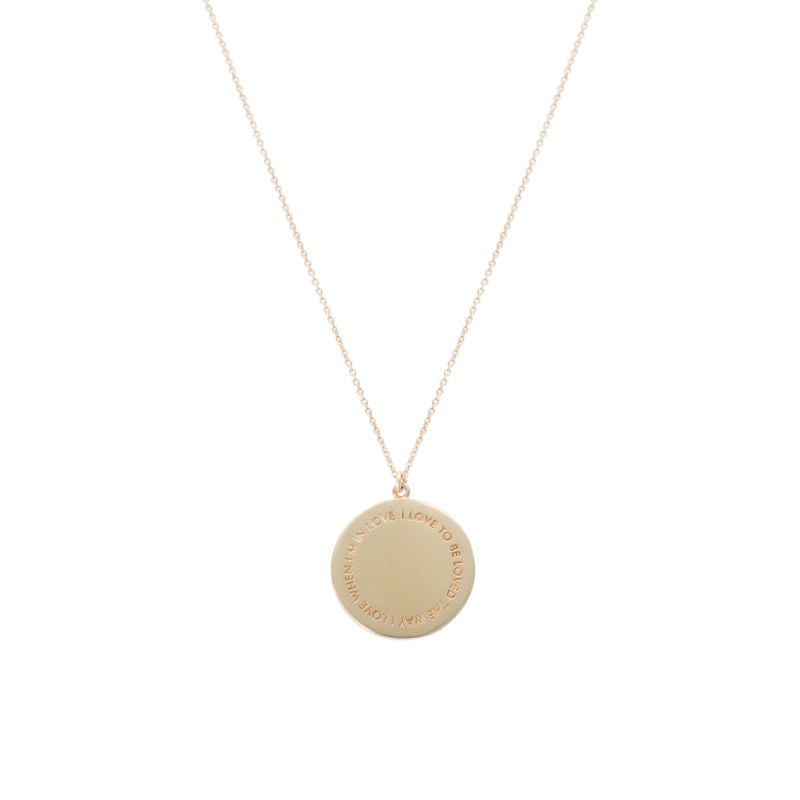 Oliver Bonas I Love to Be Loved Gold Plated Necklace, Gold